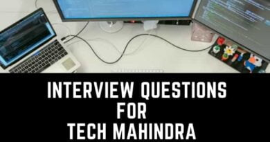 Interview Questions for Tech Mahindra